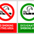 no smoking and smoking area labels   set 5 stock photo © ecelop