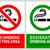 no smoking and smoking area labels   set 6 stock photo © ecelop