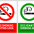 No smoking and Smoking area labels - Set 7 stock photo © Ecelop