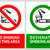 no smoking and smoking area labels   set 3 stock photo © ecelop