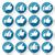 セット · ボタン · 抽象的な · ネットワーク · 通信 - ストックフォト © ecelop