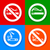 stickers multicolored no smoking area labels stock photo © ecelop