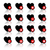 icons set   black hearts and red buttons stock photo © ecelop