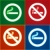 stickers set   no smoking area labels stock photo © ecelop