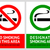 No smoking and Smoking area labels - Set 1 stock photo © Ecelop