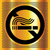 no smoking symbol on a gold background stock photo © ecelop