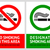 no smoking and smoking area labels   set 12 stock photo © ecelop
