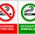 No smoking and Smoking area labels - Set 8 stock photo © Ecelop