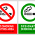 no smoking and smoking area labels   set 9 stock photo © ecelop