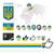 ウクライナ · フラグ · 白 · 抽象的な · デザイン · 背景 - ストックフォト © ecelop