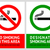 no smoking and smoking area labels   set 13 stock photo © ecelop