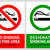 No smoking and Smoking area labels - Set 2 stock photo © Ecelop