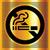 no smoking symbol on a gold backdrop stock photo © ecelop
