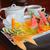 fruto · laranja · vermelho · prato · morango · uvas - foto stock © ecopic