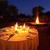 fogueira · vermelho · brilhante · preto · abstrato · noite - foto stock © ecopic