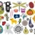 Mix of different vector images and icons. vol.24 stock photo © ekapanova