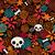 big skulls and flowers seamless background stock photo © ekapanova
