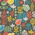 beautiful seamless pattern with cute birds stock photo © ekapanova