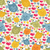 seamless pattern with cute birds and hearts stock photo © ekapanova
