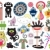 Mix of different vector images and icons. vol.16 stock photo © ekapanova