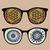 ретро · очки · странно · отражение · моде · аннотация - Сток-фото © ekapanova