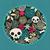 big skulls and flowers background stock photo © ekapanova