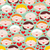 seamless pattern with female faces and hearts stock photo © ekapanova