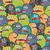 bonitinho · monstros · sem · costura · textura · vetor · colorido - foto stock © ekapanova