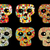 set of cute and funny skulls stock photo © ekapanova