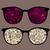 retro sunglasses with birds and mushrooms stock photo © ekapanova