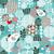 bonitinho · aves · corações · vetor · textura - foto stock © ekapanova