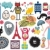 Mix of different vector images and icons. vol.14 stock photo © ekapanova