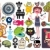 Mix of different vector images and icons. vol.18 stock photo © ekapanova