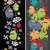 two vertical seamless patterns with monsters stock photo © ekapanova