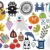 Mix of different vector images and icons. vol.23 stock photo © ekapanova