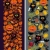 two seamless vertical patterns with black cat leaves and pumpkins stock photo © ekapanova
