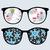 retro sunglasses with winter reflection in it stock photo © ekapanova