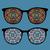 illustrazione · cuore · occhiali · da · sole · vettore · cartoon - foto d'archivio © ekapanova