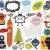 kawaii · Noël · icônes · cute · traditionnel · symboles - photo stock © ekapanova