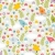 cute seamless pattern with birdsflowers and mushrooms stock photo © ekapanova