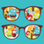 cute · grappig · zon · zonnebril · gezicht · ogen - stockfoto © ekapanova