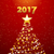 christmas tree and 2017 background stock photo © elaine