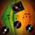 fekete · klasszikus · bakelit · lemez · citromsárga · zöld - stock fotó © elaine