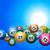 loteria · números · branco · grupo · bola - foto stock © elaine