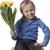 ragazzo · tulipani · guardando · giallo · direttamente - foto d'archivio © Elegies