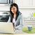 moderna · cocina · mujer · de · trabajo - foto stock © elenaphoto