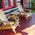 cadeiras · convés · linha · madeira · preto · e · branco - foto stock © elenaphoto