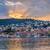 wygaśnięcia · małe · miasto · Hill · widok · z · lotu · ptaka · pomarańczowy · górskich - zdjęcia stock © elenaphoto