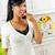 дегустация · овощей · кухне · улыбаясь · черную · женщину - Сток-фото © elenaphoto