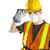 Construction worker wearing safety equipment stock photo © elenaphoto